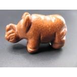 Rhino 2.25 Inch Figurine - Goldstone