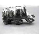 Rhino 2.25 Inch Figurine - Obsidian Black