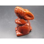 Rabbit (Hands Up) 2.25 Inch Figurine - Rainbow Jasper