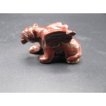 Panther with Wings 2.25 Inch Figurine - Rainbow Jasper