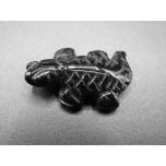 Lizard 1 Inch Figurine - Obsidian Black