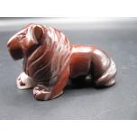 Lion 2.25 Inch Figurine - Rainbow Jasper