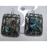 Rectangle style Gemstone Earring - Abalone