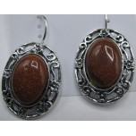 Oval style Gemstone Earring - Goldstone