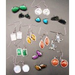 Stainless Steel Gemstone Earrings- several styles and stones available!