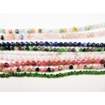 3mm Faceted Bead Strand - Assorted Gemstones