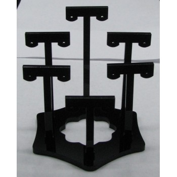 6 Pair Earring Display/Stand Clear or Black