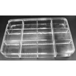 Plastic 12-place Divided Jewelry/Bead Box