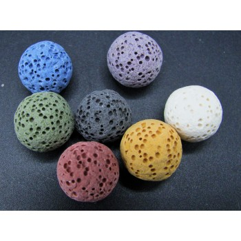 12mm Lava Bead - set of 7 in Colors