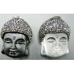 Rhinestone Capped Crystal Buddha Head Pendant - Two Styles available
