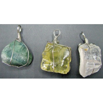 Gemstone Chunk on a Wire Bale -3 Stones Available!
