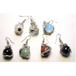 Dragon Wrapped Gemstone Earrings