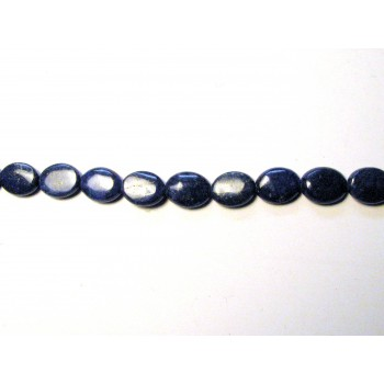 10 x 8mm Oval Lapis Bead Strand
