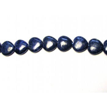 14 x 14mm Heart Shaped Lapis Bead Strand