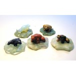 Frog on Lily Pad 2.25 Inch Figurine - Assorted Stones
