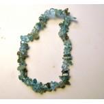 7 Inch Stretch Chip Bracelet - Apatite Green