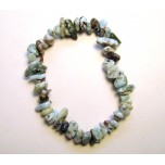 7 Inch Stretch Chip Bracelet - Larimar