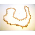 34-35 Inch Chip Necklace - Madagascar Rose Quartz