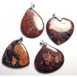 Jasper Gemstone Pendant with Bail - Style 2