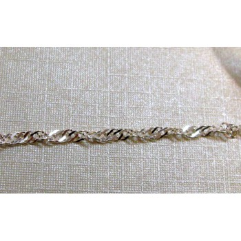 Chain Sterling Silver - 1pc Pack - 18 inch Singapore