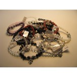 8 mm Gemstone Bracelet - with Spacer Beads and Charm - Assorted Stones
