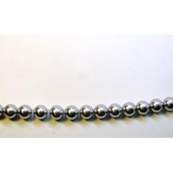 12mm Grey Shell Pearl Bead Strand