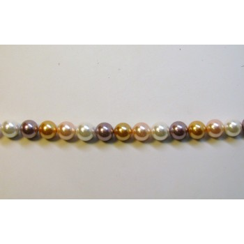 10mm Three Color Shell Pearl Bead Strand