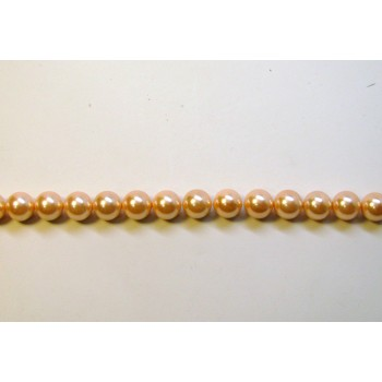 10mm Pink Shell Pearl Bead Strand