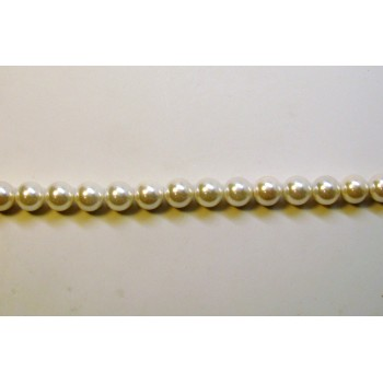 10mm White Shell Pearl Bead Strand