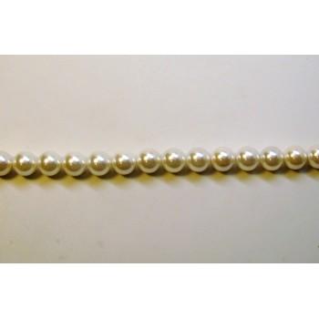12mm White Shell Pearl Bead Strand
