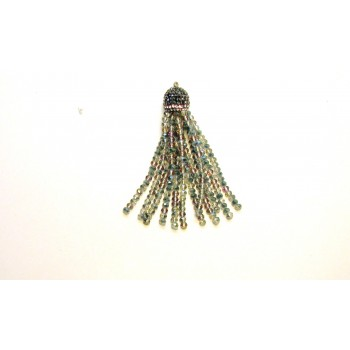 Crystal Tassel with Crystal Cap