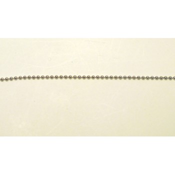 Stainless Steel Chain 1.5mm 16 Inch Ball 10piece pack