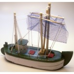 Small Sailing Ship #B with Green finish (13cm x 16cm)