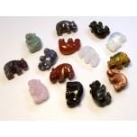 Hippo 1 Inch Figurine - Assorted Stones