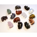 Hippo Classic Carved Fetish Bead 0.75 Inch - Assorted Stones