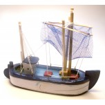 Small Sailing Ship #C with Blue finish (13cm x 16cm)