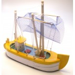 Small Sailing Ship #D with Yellow finish (13cm x 16cm)