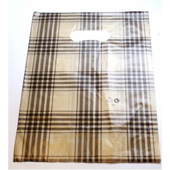 Flower Bag 7.5 Inch x 9.5 Inch 100 piece pack - Black and Gold Plaid