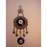Metal Pendant - Large Double Blue Eye