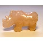 Rhino 1.5 Inch Figurine - Rose Quartz