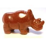 Rhino 1.5 Inch Figurine - Goldstone