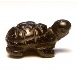 Turtle Carved Fetish Bead 0.75 Inch - Blue Goldstone