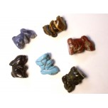 Rabbit (Hands Up) 1 Inch Figurine - Assorted Stones