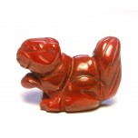 Squirrel Carved Fetish Bead 0.75 Inch - Rainbow Jasper