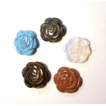 Rose Carved Fetish Bead 0.75 Inch - Assorted