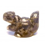 Squirrel Carved Fetish Bead 0.75 Inch - Sodalite