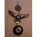 Metal Pendant - Blue Eye with Eagle
