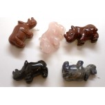 Rhino 1.5 Inch Figurine - Assorted Stones