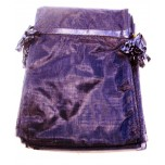 Organza Pouch XLarge 12 piece pack - Blue Dark