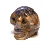 Skull Carved Fetish Bead 0.75 Inch - Sodalite